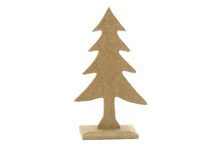 Sapin sur socle en medium 14 x 8 cm